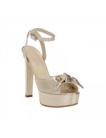 Sandale piele naturala Alison Light Gold - pe stoc