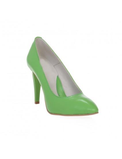 Pantofi Stiletto Verde piele naturala Casual  -orice culoare