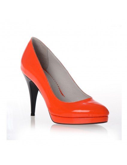 Pantofi dama coquette piele -  portocaliu
