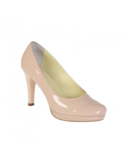 Pantofi Online Piele lacuita nude - pe stoc