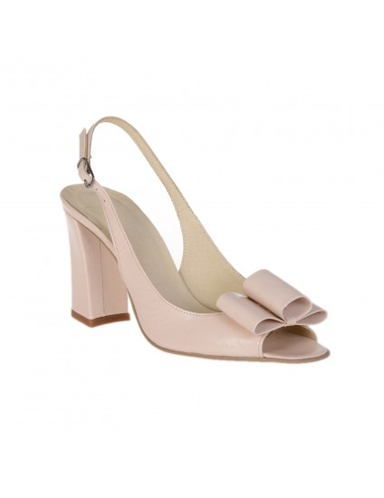 Sandale din piele Chic madame2  BOX NEGRU - pe stoc