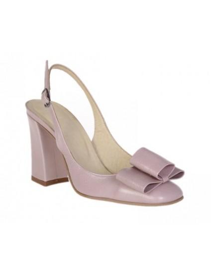 Pantofi Chic Madame decupat Piele Lila- pe stoc
