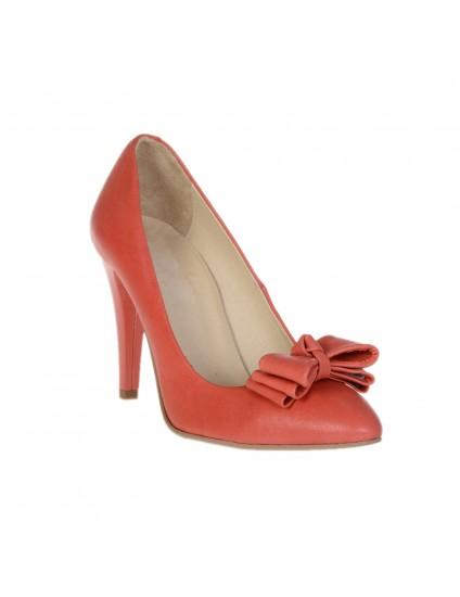 Pantofi Piele naturala Corai Funda - disponibili pe orice culoare