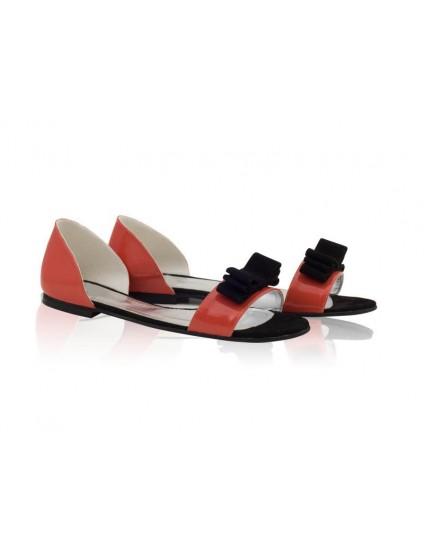 Sandale dama talpa joasa Pretty - Piele naturala