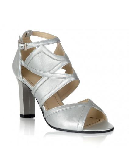 Sandale Piele Argintiu Amelie V11 - orice culoare