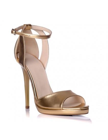 Sandale dama piele auriu Lola S2 - pe stoc
