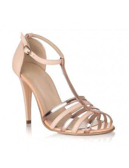 Sandale Piele Auriu Lady Chic S11 - pe stoc