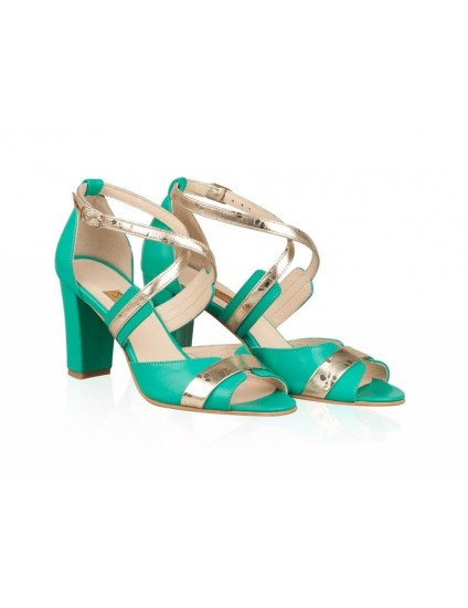 Sandale Dama Piele Verde Jonil N26 -pe stoc