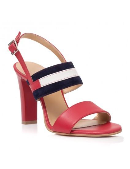 Sandale Piele Rosu/Bleumarin Alice T11- orice culoare
