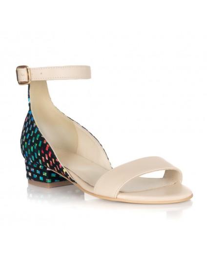 Sandale dama piele nude spate colo Doina L1 - orice culoare