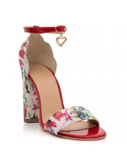 Sandale Piele Floral Sweetheart T12- orice culoare