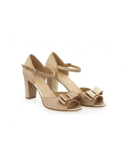 Sandale Piele Auriu/Ivoire Marise N46 - orice culoare