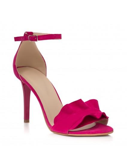 Sandale Piele Fucsia Anais Toc Cui C16  - orice culoare