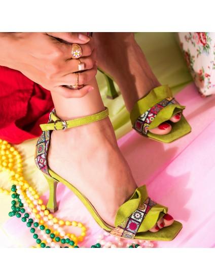 Sandale Piele Verde Evelyn C19  - orice culoare