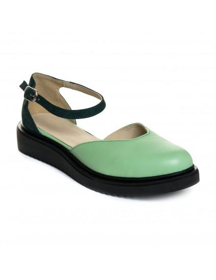 Sandale Talpa Joasa Piele Verde Anabel V7   - Orice Culoare