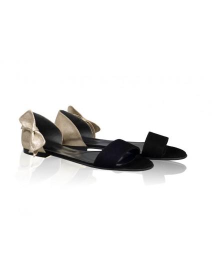 Sandale dama talpa joasa Chic Funda - Piele naturala