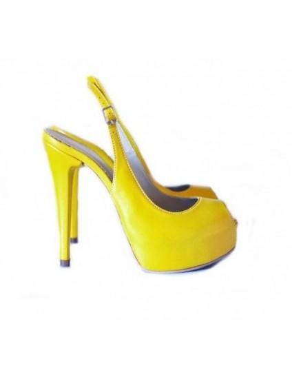 Sandale dama piele naturala Style Galben - orice culoare