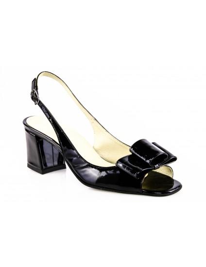 Sandale piele BOX NEGRRU SI FUNDA NUDE  Chic madame1 - PE STOC