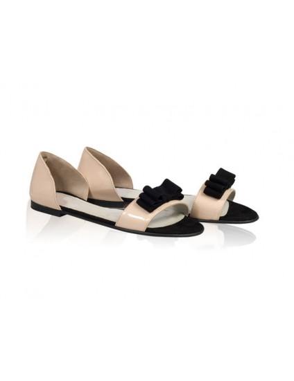 Sandale dama talpa joasa Pretty- Piele naturala