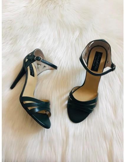 Sandale dama piele Diva Verde Inchis  F4 - pe stoc