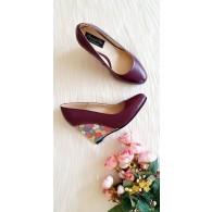Pantofi cu Platforma Piele Puzzled D10 - orice culoare
