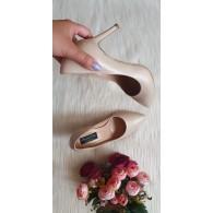 Pantofi Stiletto Piele Intoarsa Nude L5 - Orice Culoare