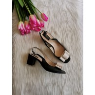 Sandale piele box negra Chic madame1 -pe stoc