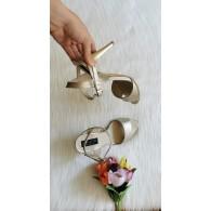Sandale Dama Piele Auriu Anne - pe stoc