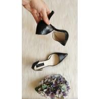 Pantofi Stiletto Piele negra  Lolita C35 - pe stoc
