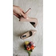 Pantofi Stiletto  Piele lacuita nude  C8  - pe stoc