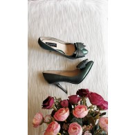 Pantofi Stiletto Piele Somon Fundita Tripla D54 - Orice Culoare