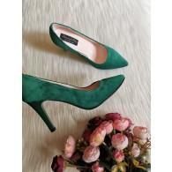 Pantofi Stiletto  Piele Verde C8  - orice culoare