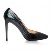 Pantofi Stiletto Croco Negru C1  - orice culoare