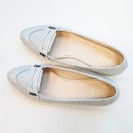 Balerini piele naturala gri Office D50 - orice culoare
