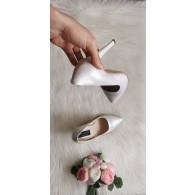 Pantofi Stiletto piele alb sidef   Very Chic -pe stoc