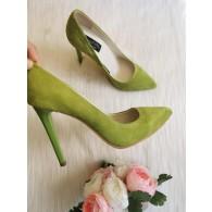 Pantofi Stiletto Piele Galben Very Chic - disponibili pe orice culoare
