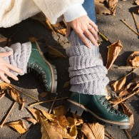Bocanci dama piele verde Street Fashion - orice culoare
