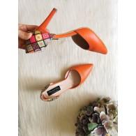 Pantofi Stiletto Piele Nude Lolita C35 - orice culoare