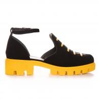 Pantofi Piele Intoarsa Casual Decupat  V50  - orice culoare