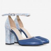 Pantofi Piele Albastru Scarlet D63  - orice culoare