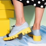 Pantofi Piele Bleu Talpa Joasa  V12  - orice culoare