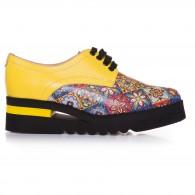 Pantofi Dama Piele Galben Clare T3  - orice culoare