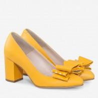 Pantofi Dama Piele Galben Bonita D62  - orice culoare