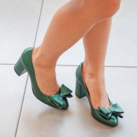 Pantofi Dama Piele Verde Bonita D62  - orice culoare