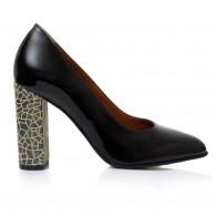Pantofi Eleganti Toc Gros Lac Negru Melisa T31 - Orice Culoare
