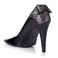 Pantofi Dama Lac Negru Funda Spate T11 - orice culoare