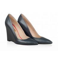 Pantofi Piele cu Platforma Negru N20 - orice culoare