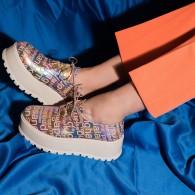 Pantofi Piele Talpa Inalta Color V48  - orice culoare