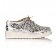 Pantofi piele Argintiu Imprimat Oxford V14 - orice culoare