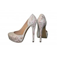 Pantofi pictati manual Blossom - orice culoare